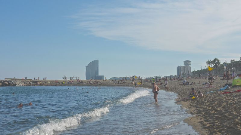 Barcelona's beautiful beach front.